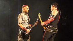 'Rammstein' se besa durante su concierto en Rusia contra la