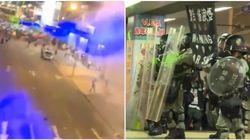 A Hong Kong i manifestanti usano il laser per evitare il riconoscimento: la scena è da film