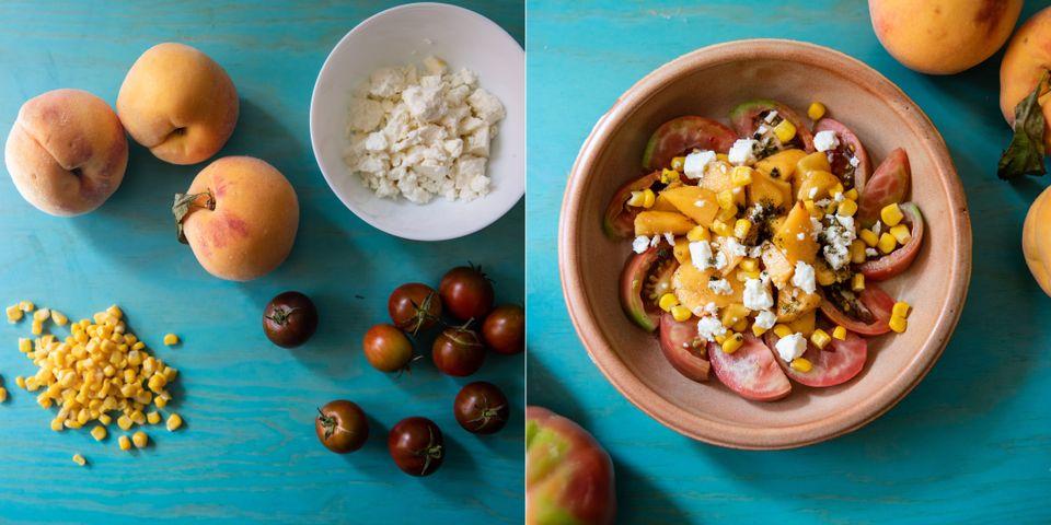 Recetas fáciles: ensalada estival con melocotón y
