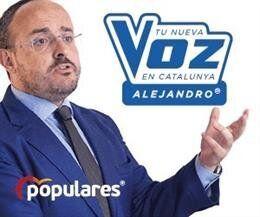 El PP de Cataluña presenta a su candidato como un concursante de La Voz y pasa lo que te