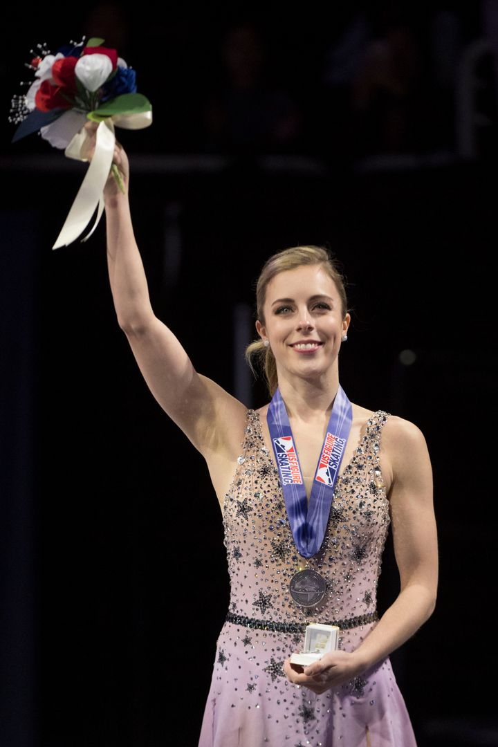 Olympic figure skater Ashley Wagner, seen here during the 2018 U.S. Figure Skating Championships, has said she was sexua