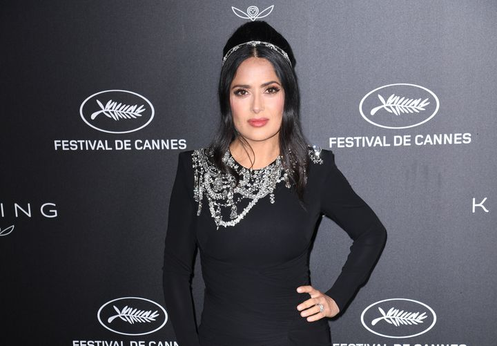 Salma Hayek attending the Kering and Cannes Film Festival official dinner, during the 72nd Cannes Film Festival.
