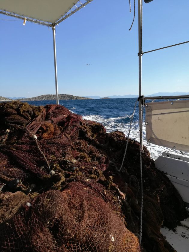 BlueCycle: 3 τόνοι εγκαταλελειμμένων διχτυών αφαιρέθηκαν από τον βυθό της