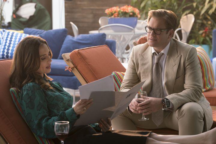 "Eliza Dushku and Michael Weatherly on the CBS legal drama ""Bull."""