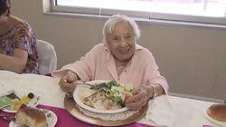 O segredo da longevidade? 'Não tenha marido e coma comida italiana', diz senhora de 107