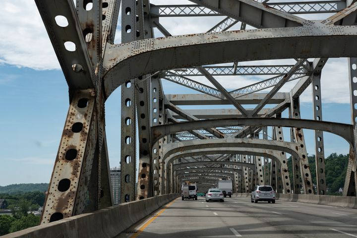President Donald Trump promised to fix or build a new bridge to replace the Brent Spence Bridge between Ohio and Kentucky. He