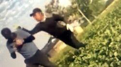 한국 농촌에서 이주노동자가 폭행당하는 영상이