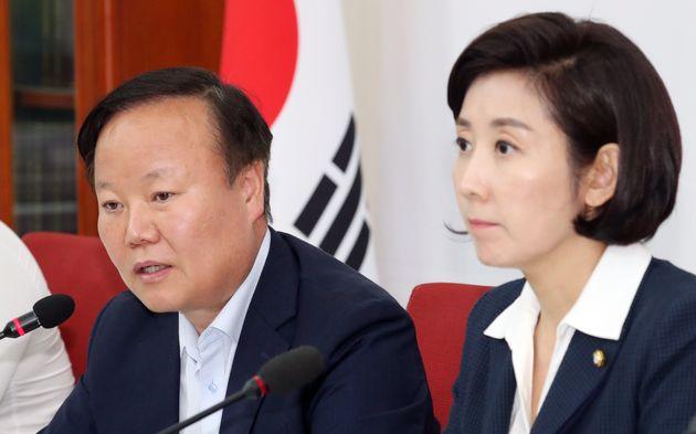 김재원 국회 예결위원장과 나경원 자유한국당