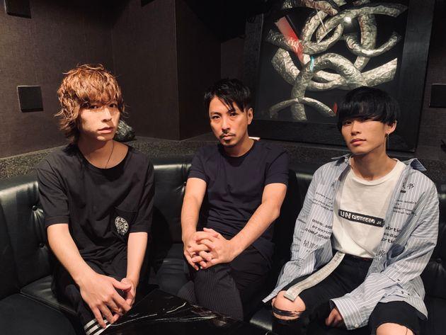 左から、天翔さん、MUSASHIさん、ハクさん