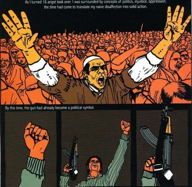 The harsh style of the art in <i>Kashmir Pending</i>&nbsp;is highly impactful, and the slim volume is quite powerful.