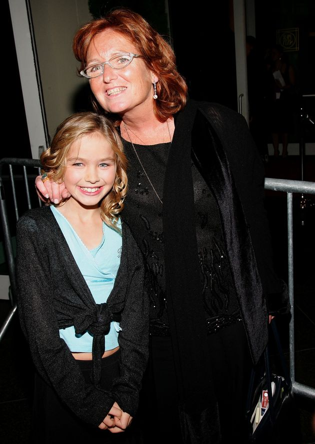 Kennedy Hill with her mother Courtney in 2006, New York