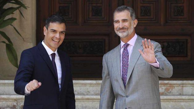 Felipe VI y Sánchez mantendrán el despacho de verano el día 7 en