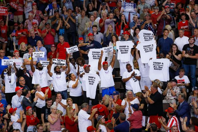 At Cincinnati Rally, White Trump Supporters Want You To Know They Have Black