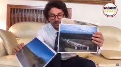 Toninelli annuncia lo sblocco del cantiere dell'Asti-Cuneo, ma mostra la foto sbagliata