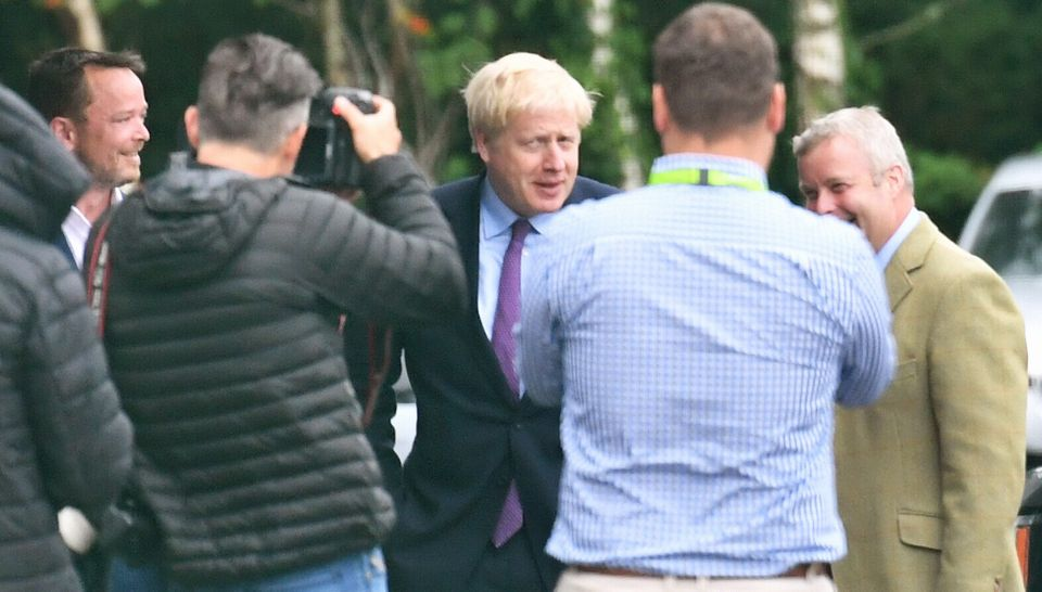 Johnson campaigned in Brecon earlier this