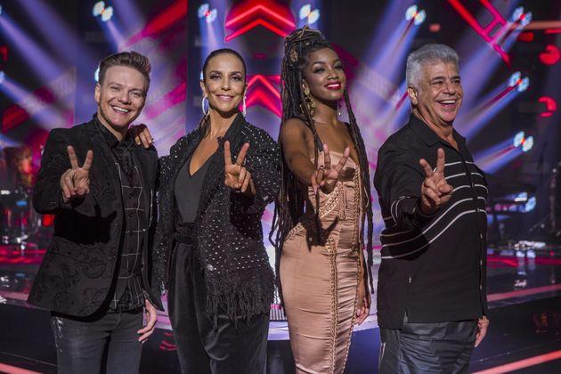 Michel Teló, Ivete Sangalo, IZA e Lulu Santos, os técnicos do The Voice