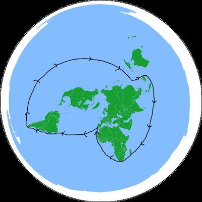 Proyección de la ruta de Magallanes-Elcano según los