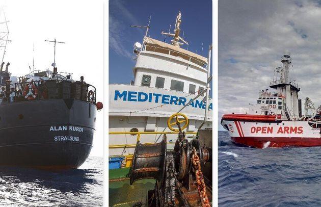 Tutte in mare. Alan Kurdi verso Malta, Open Arms chiede un porto, Mare Jonio