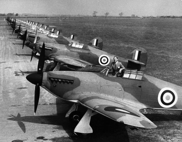 Hurricanes and Spitfires, which took part to the Battle of Britain are pictured on the RAF Henlow Base...