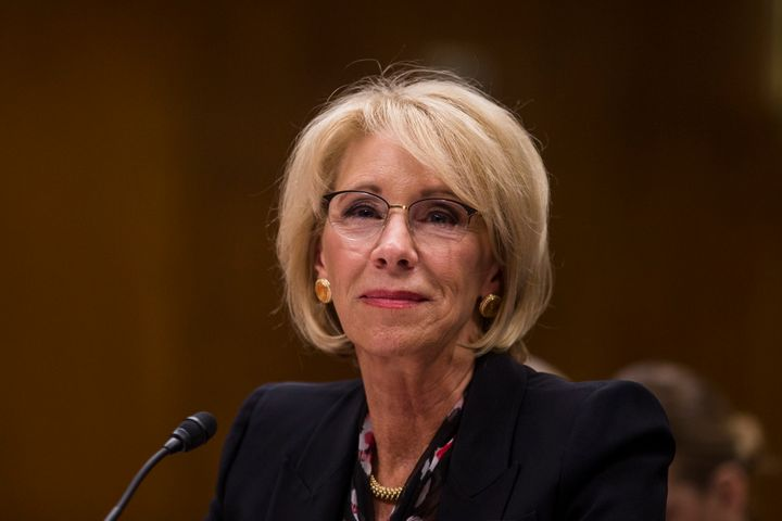 "Education Secretary Betsy DeVos seemed to blame students for being defrauded, the author writes. ""There are bad actors,"