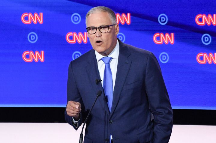 Washington Gov. Jay Inslee has been clear that his Democratic presidential campaign is focused on the climate crisis.