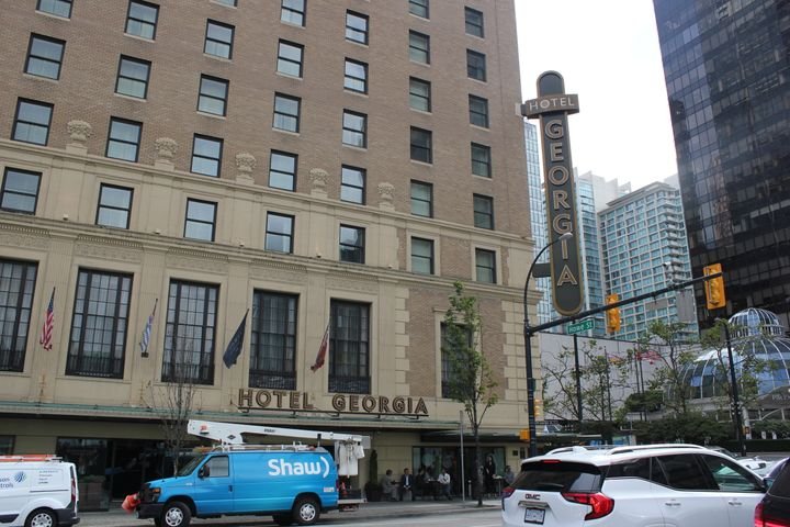 The historic Rosewood Hotel Georgia in downtown Vancouver.