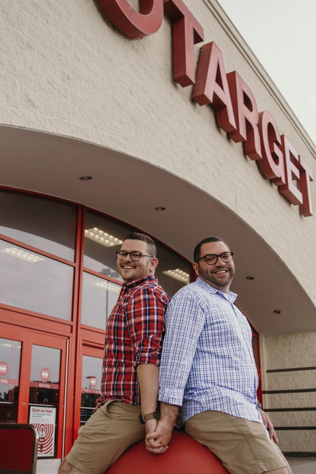 The couple outside their local Target in Erie,