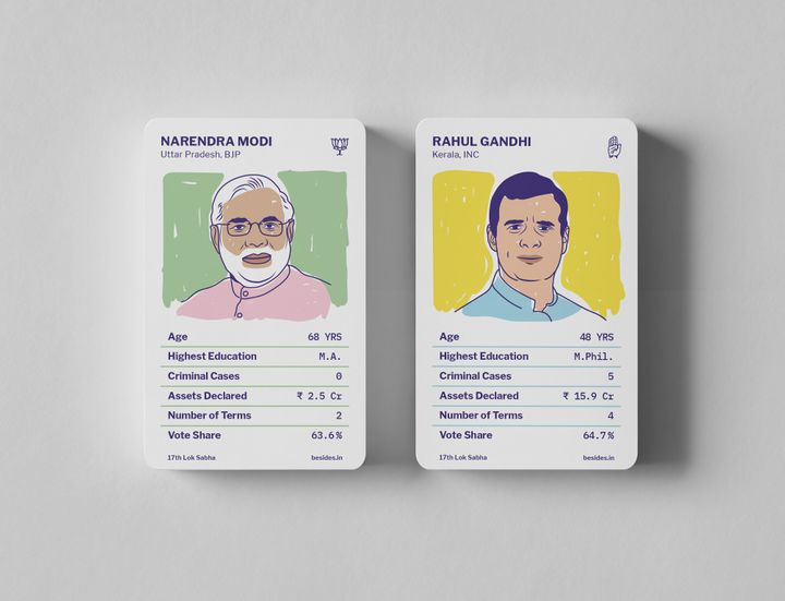 Mantri Cards is a simple trading card game that even kids can play, which teaches you about Indian politicians.