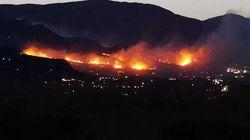 Notte di incendi e paura alle porte di Palermo. Fiamme vicine alle case