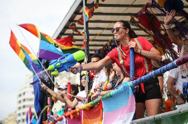 One of the floats makes its way through the