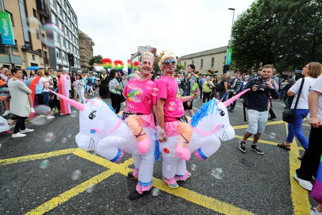 Unicorns at Belfast Pride