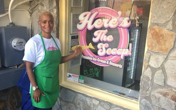 Karin Sellers hopes her new ice cream shop, Here's The Scoop, will double as an incubator for black talent.