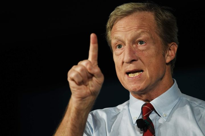 """Tom Steyer, a liberal billionaire and philanthropist, made the case on Saturday that only an """"outsider"""" could end the corpora"""