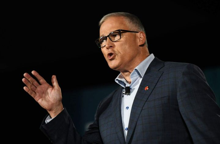 Washington Gov. Jay Inslee (D) recalled his work as a concrete truck driver to show his appreciation of the fear many workers