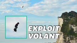 Les images incroyables de l'exploit de Franky Zapata au-dessus de la