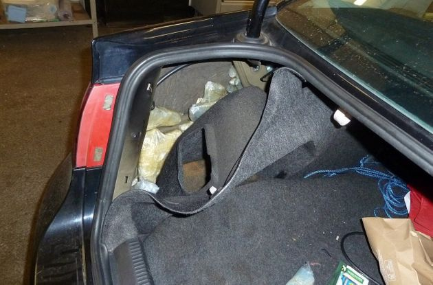 Massive Haul Of Guns Found Hidden In Car At