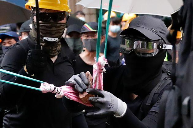 Hong Kong Protesters Target Police
