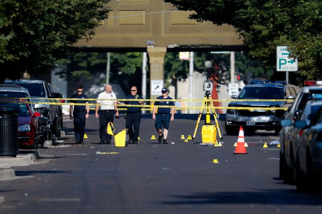 The scene of the shooting on