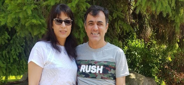 Saeed Malekpour, left, poses for a photo with his sister Maryam Malekpour on Saturday.
