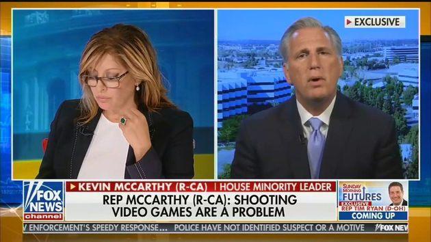Le républicain Kevin McCarthy accuse les jeux vidéo après les tueries d'El Paso...