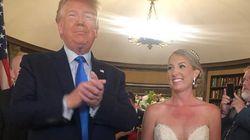 Ces photos de Trump à un mariage entre les deux fusillades passent très