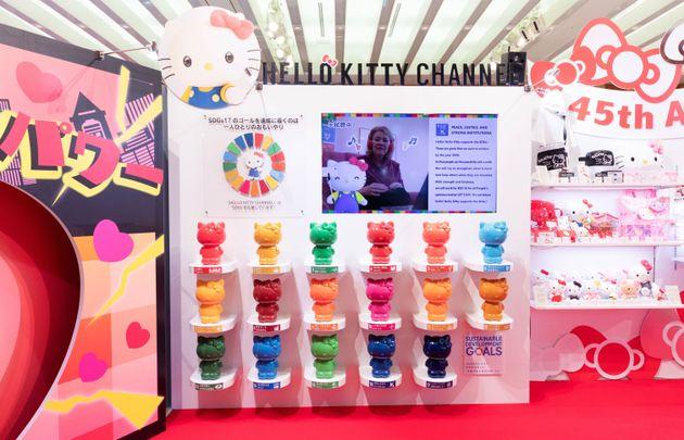今年3月に行われた新商品の展示会場に設けられたSDGsコーナー