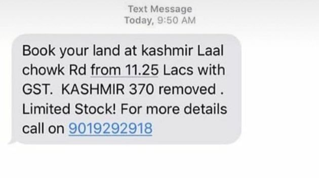 Article 370: The Truth Behind Viral SMS Offering Land For Sale In