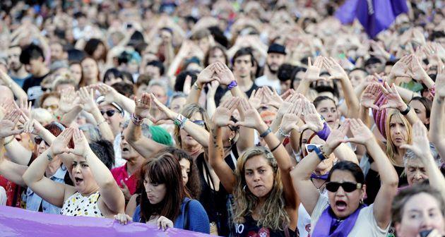 Indignación en Bilbao por la puesta en libertad de cuatro de los seis arrestados por violar en