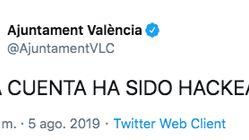 Hackean la cuenta de Twitter del Ayuntamiento de Valencia y ocurre lo más