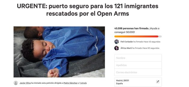 La Comisión Europea pide el desembarco urgente de los 121 migrantes a bordo del Open