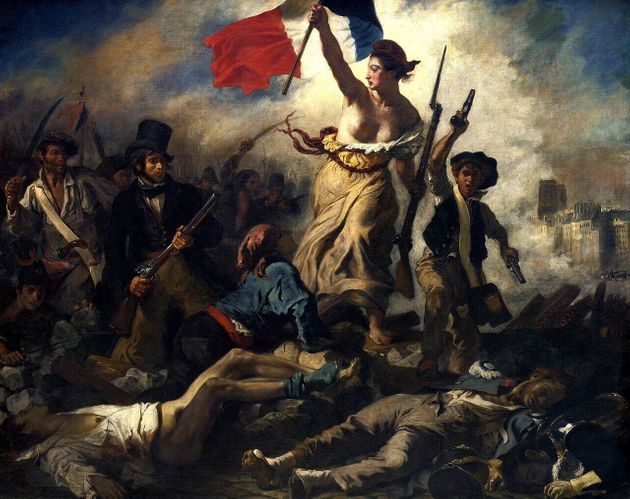 La Libertad guiando al pueblo, cuadro pintado por Eugène Delacroix en