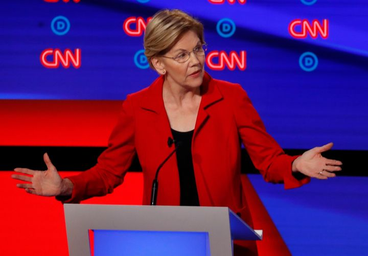 The question is whether Sen. Elizabeth Warren's good debate reviews will help her in the Democratic primary horse race.