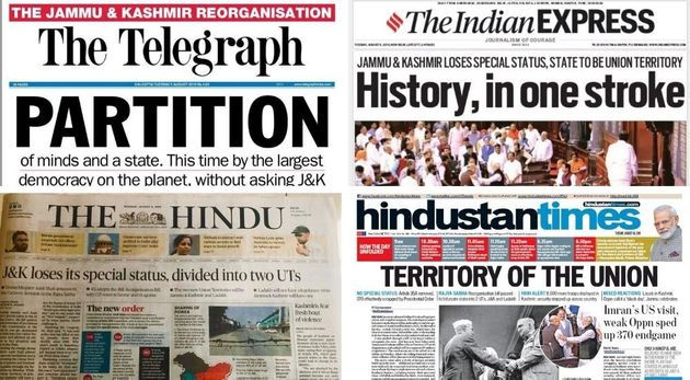 'Partition', 'Union's Territory': How Indian Newspapers Covered Kashmir's
