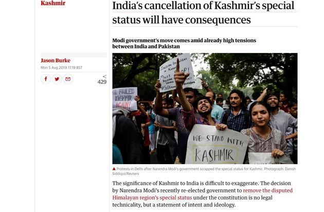 How The World's Reacting To India Revoking Kashmir's Special